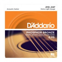 D'addario EJ Phosphor Bronze Acoustic Guitar Strings